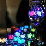 goodjinHH 12er Eiswürfel Lichter Kunststoff Wasser Tauch Leuchten Led Eis Farbwechsel partei leucht...