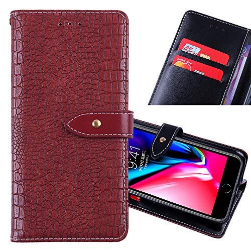 ZYQ Rot Flip Leder Tasche Für Lenovo Z5S TPU Silikon Schutz Hülle Brief Hülle Cover Etui Klapphülle Handytasche