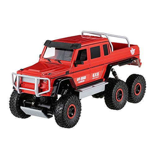 YZX Rc Cars Off-Road Car Electric Large Six-Wheel Drive Drop-Resistant Big Foot Climbing Pickup Monster Child Boy Favorite Remote Control Toy Car