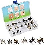 TIMESETL 14/18 mm cierre magnético 30pcs Plata/Oro/Negro magnético bolsa cierres cierres de botón con caja de plástico