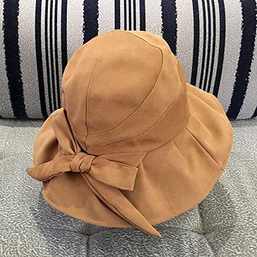 wopiaol Sombrero de Pescador, Literatura y Arte japoneses Femeninos, Sombrero de Lazo Salvaje, Sombrero para el Sol de Ocio, Sombrero para el Sol, pequeño y Fresco, Protector Solar