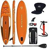 Aqua Marina Aufblasbar Sup Board Stand up Paddle AQUAMARINA Fusion 2021 Komplette Packung 330x81x15cm mit Kajak Sitz