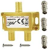 TronicXL Distribuidor de antena para televisión (2 vías, DVBC, para Unitymedia, Unicable