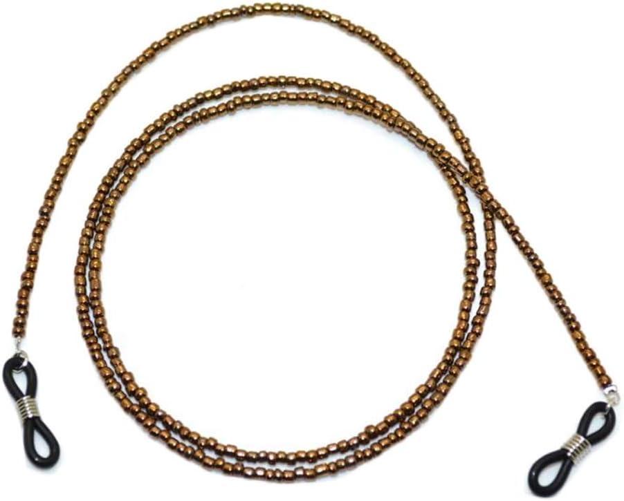 Vintage Eyeglass String Holder Chain Bronze Glass Beads Glasses Holders Eyeglass Chain Cord for Men Women