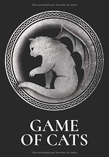 GAME OF CATS: Cuaderno rayado en blanco, para los amantes de los gatos | Funda blanda | regalo perfecto para dueños de gatos | amigos | familias | perfecto para escribir