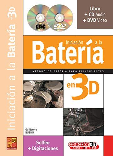 Iniciación a la batería en 3D - 1 Libro + 1 CD + 1 DVD