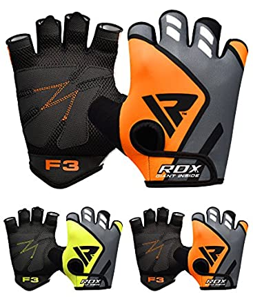 RDX Guantes Gimnasio Pesas Musculacion Fitness Entrenamiento Transpirable Powerlifting Ejercicio de Entrenamiento
