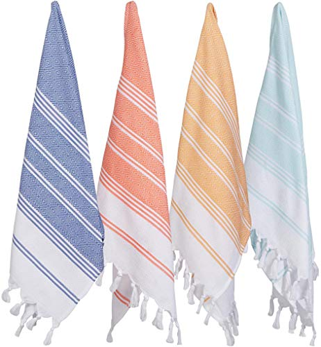 (Set of 4) Unique Hand Face Towel Set Turkish Cotton 20