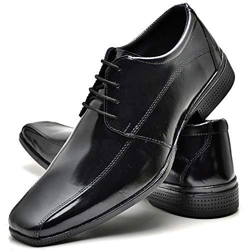 Sapato Social Com Cadarço Masculino Top Flex R804DB Tamanho:45;cor:Preto;gênero:Masculino