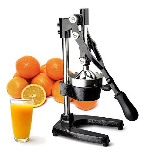 TrueCraftware Commercial Citrus Juicer Hand Press - Manual Juicer Extractor - Fruit Juice Press - Heavy Duty Cast Iron Citrus Juicer - Citrus Press - Citrus Squeezer for Lemons, Limes and Oranges etc