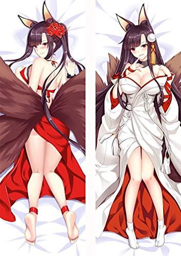 Promini Funda de almohada Azur Lane Akagi Anime Charactor con cremallera oculta, funda suave, 50 x 137 cm