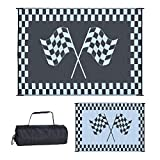 Ming's Mark RF-9121 Stylish Camping Reversible Classical Patio Mat - 9' x 12', Racing Flag