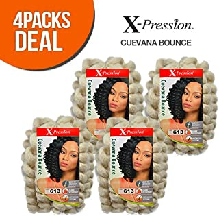 Outre Synthetic Hair Crochet Braids X-Pression Braid Cuevana Bounce (4-Pack, 1)