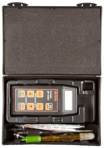 Hanna Instruments HI 8424 Waterproof Portable pH Meter, with ATC and HOLD Feature