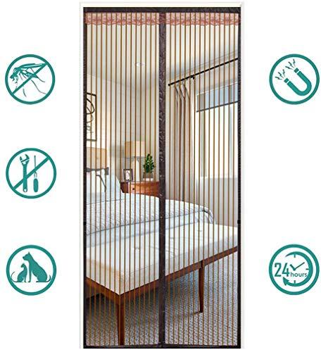 Magnetische insectenhor, vliegendeur, scherm Eenvoudig te installeren zonder te boren Afdichting van boven naar beneden Houdt insecten automatisch uit uw kamer, koffiestrepen
