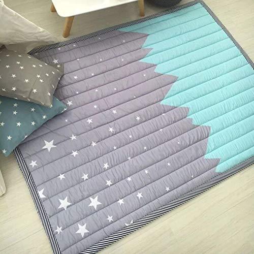 WWDH Épaissir Coton Tapis Rampants De Bébé,Non-Slip Couverture De Jeu pour Enfants,Pliant Tatami Tapis Enfants-AK 145x195cm(57x77inch)