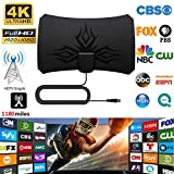 weemoment 4K Digital Indoor HDTV Antenna with Amplifier Signal Booster 1180 Miles TV Radius Surf HD Antennas Aerial Famous