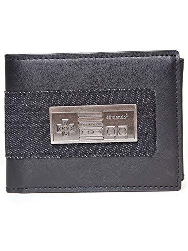 Nintendo Geldbörse NES Controller Metall Symbol 11x9x2,5cm schwarz