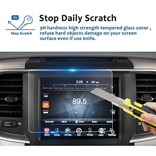 Anti Scratch Navigation Screen Protector for 2013-2018 Jeep Wrangler 6.5 Inch Tempered Glass Car GPS Display Screen Protective Film Accessories