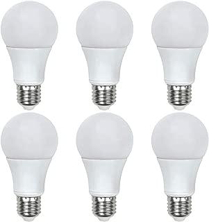 Global Value Lighting FG-03161 40-Watt Equivalent A19 General Purpose LED Light Bulb, (6-Pack), Daylight (5000K Kelvin)