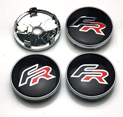 4 Uds W235 60mm emblema de coche pegatina de insignia tapa de cubo de rueda cubierta central asiento de carreras FR Ibiza León Toledo Arosa Alhambra