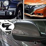 XZANTE 6 Pcs Alerte De Cerf pour Les Vehicules Evite Les Collisions De Cerf Voiture Avertissement De Cerf Noir Avertissement Ultrasonique De La Faune pour Auto Moto Camion SUV Et ATV