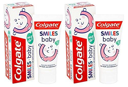 Colgate Smiles - Pasta de dientes para bebé de 0 a 2 años de edad, 50 ml