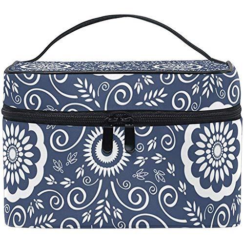 Graceful Retro Cosmetic Bag cosmeticatas, multifunctioneel, donkerblauw
