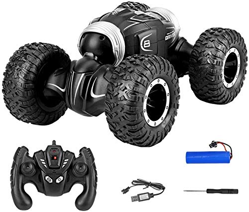 Autoks RC Toy Car 2.4Ghz Tumbling Stunt Off-Road Car Truck Remote Control Toys 4WD Tunt Rc Car High Speed Flashing for Children Electric Cool RC Cars Boy Birthday Best Gifts (Size : 1 Battery Pack)