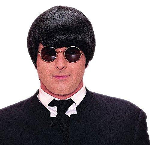 Forum Novelties Men's One Size 60's Mod Wig Deluxe, Black