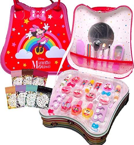 ディズニー ミニー(Disney Minnie)ミニーちゃん 持ち運べる取っ手付き ミラー付きコスメセット 30点セット ネイルシール付き キッズ用 化粧品 メイクアップセット コスメ コスメボックス メイクボックス 子供 女の子 キッズ キッズコスメ ミニー