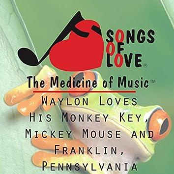 Waylon Loves His Monkey Key, Mickey Mouse and Franklin, Pennsylvania
