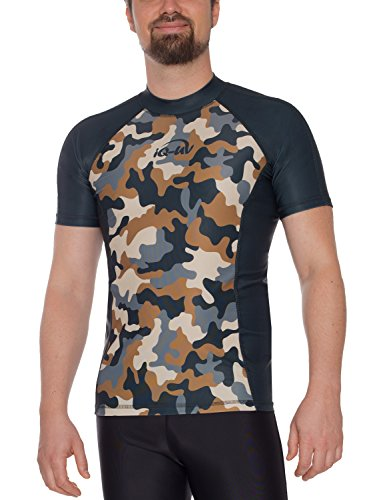 iQ-UV Herren 300 eng geschnitten, UV-Schutz T-Shirt, Olive, L