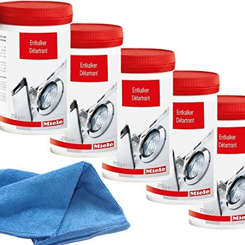 Miele Entkalker für Waschmaschinen und Geschirrspüler a 250 g (5 Stück) incl. MARETeam Poliertuch