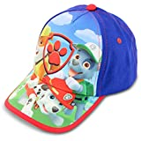Nickelodeon Toddler Hat for Boy's Ages 2-7, Paw Patrol Kids Baseball Cap, Blue/Red, 2-4 T