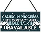 RED OCEAN Funny Gaming Bedroom Door Sign Novelty Gamer Gifts Accessories Birthday Gift For Brother Son Dad