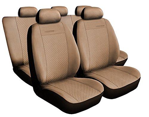 Voiture 4U, Premium Housses pour siège auto Protège Siège Set de 5 housses siège auto Siège auto protection, Prestige, coussins Housses de sièges Beige