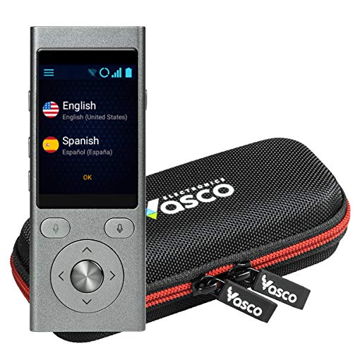 Vasco Mini 2 Translator Device | Multi-language Portable Voice Translator - Supports 50 Languages | Enables Instant Two-Way Conversation | No WiFi needed | European Brand