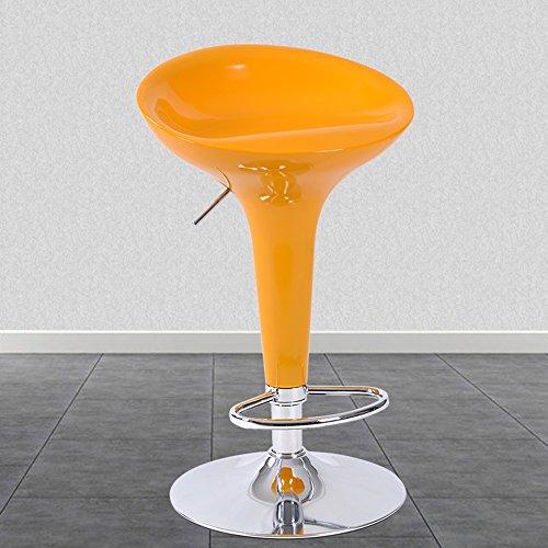 Chaises de bar, chaises de bar de style européen, tabouret de bar de mode, chaise élévatrice de réception, haute chaise simple de tabouret de bar (Couleur : Le jaune)