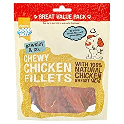 With 100% natural chicken breast No artificial colours, flavours, or preservatives High in protein Great treats for dogs of all sizes Item display weight: 0.2 kilograms