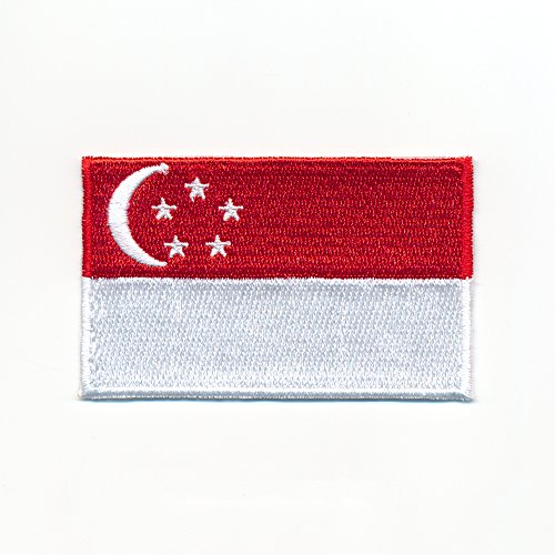 hegibaer 30 x 20 mm Singapore vlag Republic of Singapore applicatie opstrijkmachine 0943 Mini