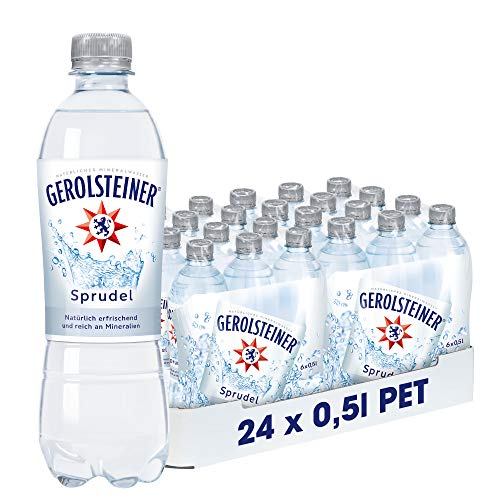 Gerolsteiner Sprudel / Natürliches Mineralwasser mit viel Kohlensäure und wertvollem Calcium und Magnesium / 24 x 0,5 L PET Einweg Flaschen