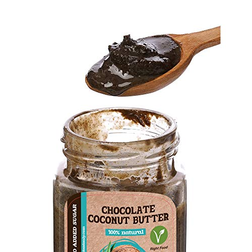 Mantequilla de Chocolate y Coco | Crema de Chocolate Para Untar | Sin OMG | Sin Azúcar Añadido | 100% Superalimento