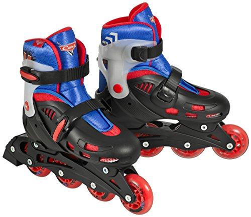Cars Jungen Inline Skates Fitness Street X Adjustable, Schwarz/Blau/Rot, 35-38