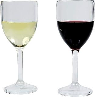 Viva Haushaltswaren 2Verres à vin incassables en Plastique de qualité (polycabonat): env. 300ml/35665