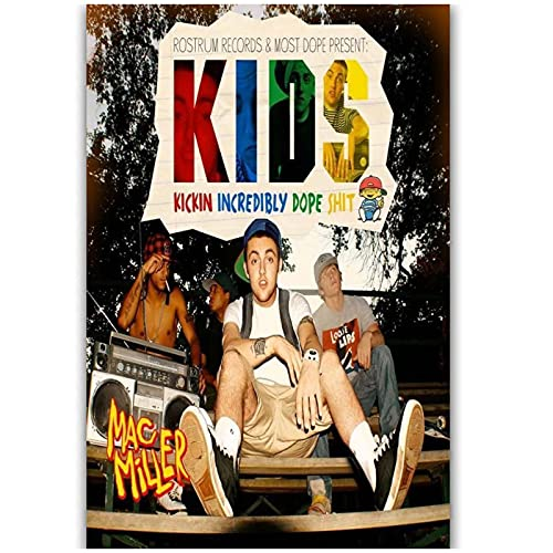 Vspgyf Hot Mac Miller R.I.P New Kids Hip Hop Rapper Music Album Singer Star Poster Art Silk Canvas Home Room Wall Printing Decor -50x75cm x1pcs -No Frame