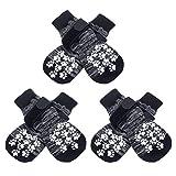EXPAWLORER Double Side Anti-Slip Dog Socks with Adjustable Straps...