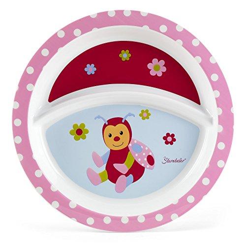 Sterntaler Assiette Bébé, la coccinelle Katharina, Âge: Pour les bébés à partir de 6 mois, Rose