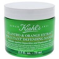 Kiehl's Cilantro & Orange Extract Pollutant Defending Masque for Women, 2.5 Ounce