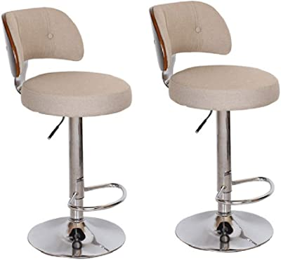 Amazon.com: WGFdeng Faux Leather Kitchen Breakfast Bar Stool ...
